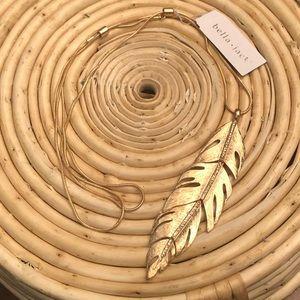 Bella Jack Gold Leaf Pendant Necklace